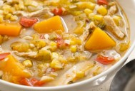 Leftover Turkey Squash Soup