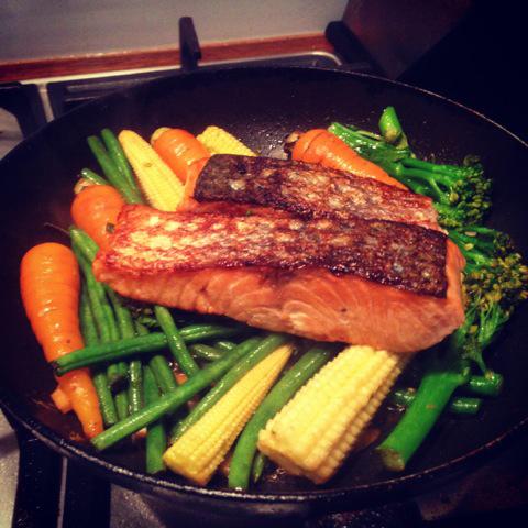Salmon Fillets & Veg